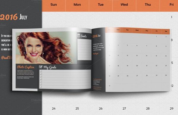 Modern Events Calendar Design