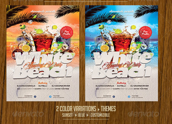 Modern Flyer For Beach Party