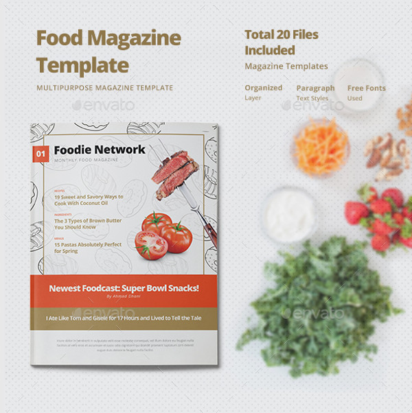 Modern Food Magazine Template