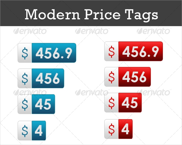 Modern Price Tag Design