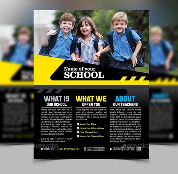 Modern School Party Flyer