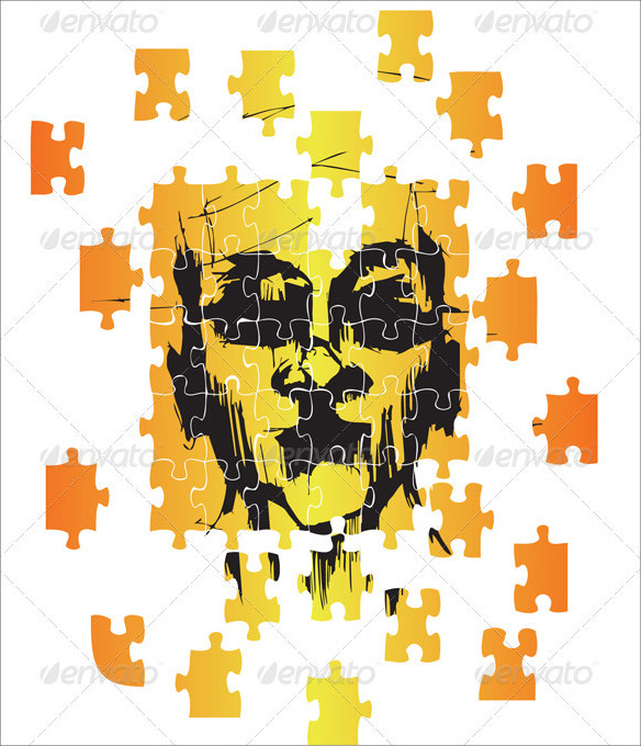 Monster Puzzle Vector
