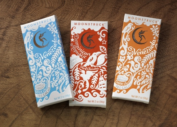 moonstruck chocolate bar packaging