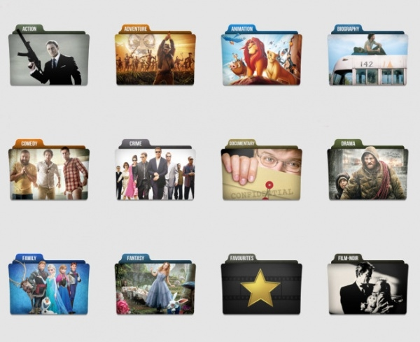 Movie Genres Folder Icons