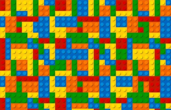 Multi-color Lego Puzzle Pattern