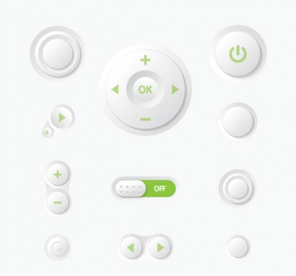 Multimedia Control Panel UI Buttons