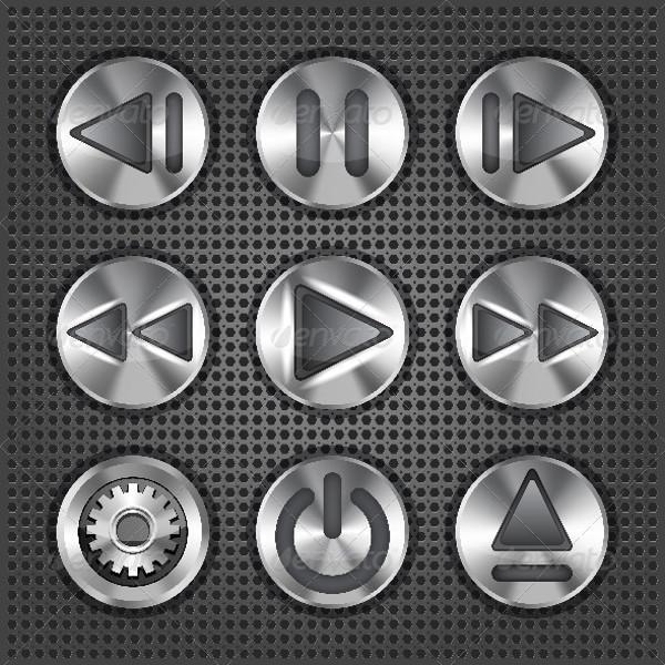 Multimedia Metallic Buttons