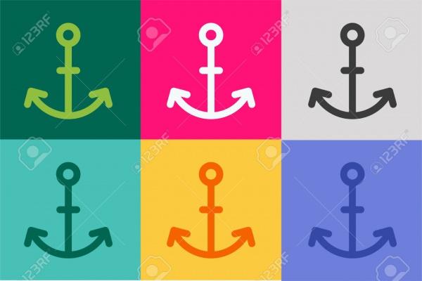 Multipurpose Anchor Icons Set