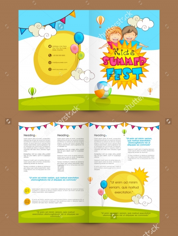 20 daycare brochure templates psd vector eps jpg for Preschool brochure template