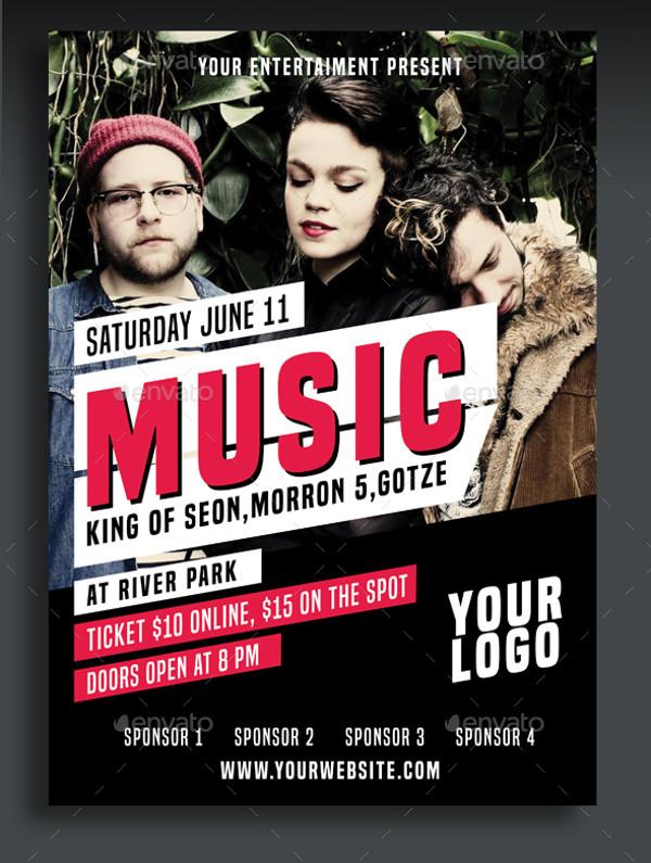 music concert flyer design
