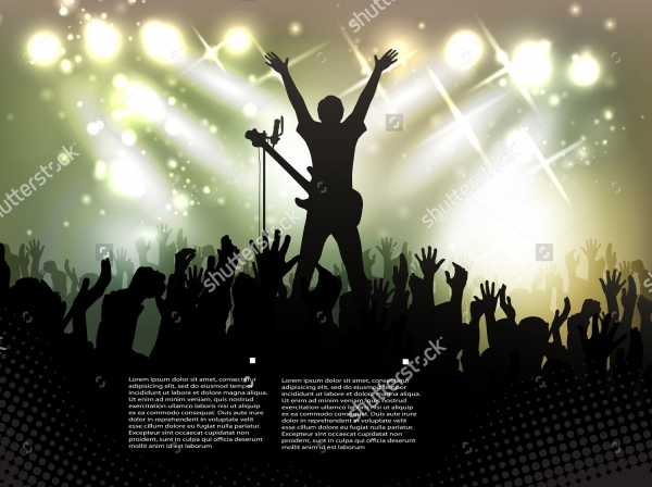 Music Concert Vector Design