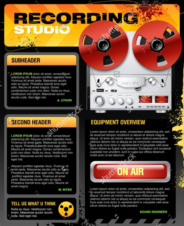 Studio Brochure Templates  Psd Vector Eps Jpg Download