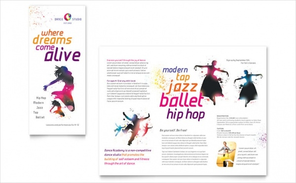 Musical Dance Studio Brochure