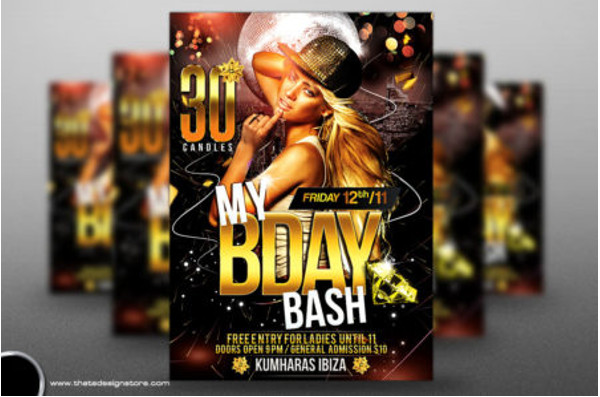 My Birthday party Flyer design