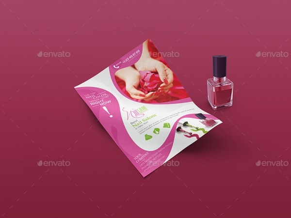 nails salon flyer design