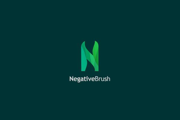 Negative Brush Logo Design