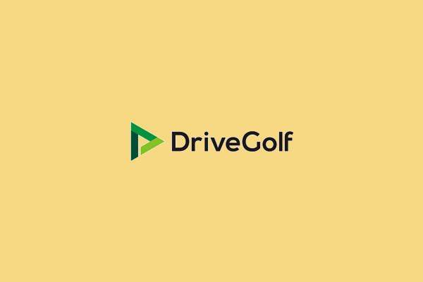 Negative Space Golf Sport Logo