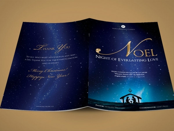 Noel Christmas Musical Brochure Template