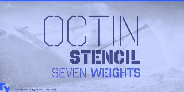 Octin Stencil Font of Varsity