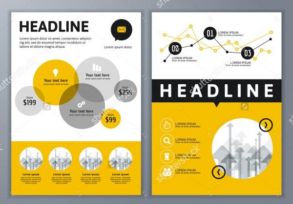 Online Service Brochure Template Design