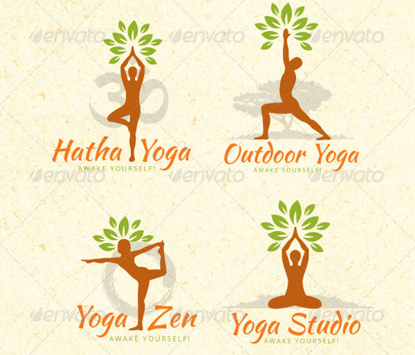 Organic Yoga Vector Design