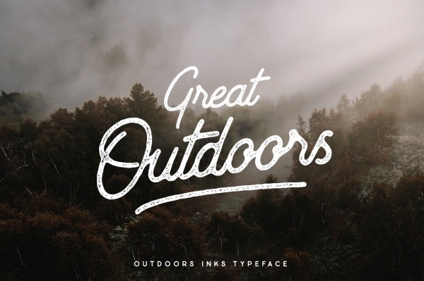 Outdoors Inks Typeface Adventure Font