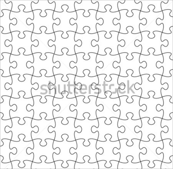 Outline Transparent Puzzle Pattern