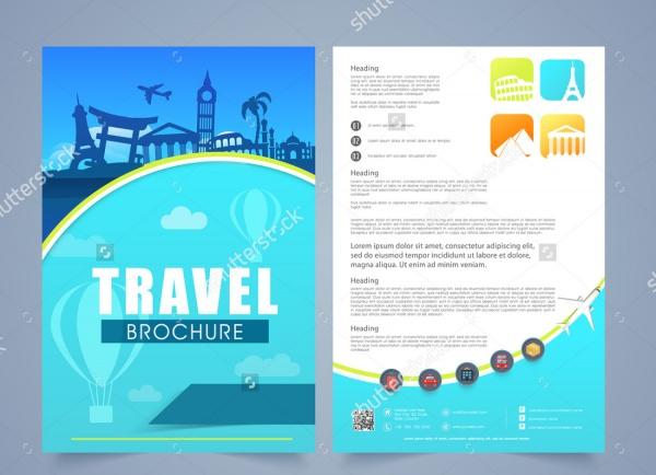 21 travel agency brochures psd vector eps jpg for Travel agency brochure template