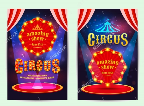 PSD Design Flyer For Circus
