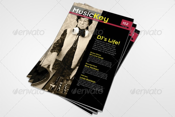 Pages Musickey Music Magazine Template
