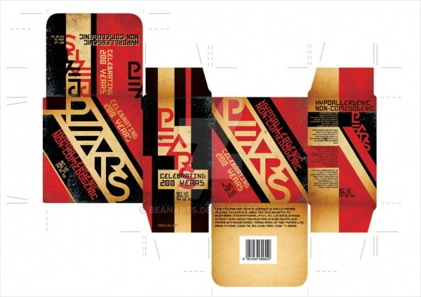 Pears Soap Box Constructivism Packaging