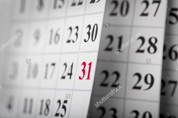 Personal Event Calendar Design