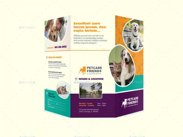 pet care tri fold brochure
