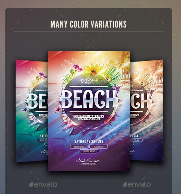 Photo-realistic Beach Flyer Template