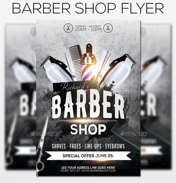 Photorealistic Flyer For Barber Shop