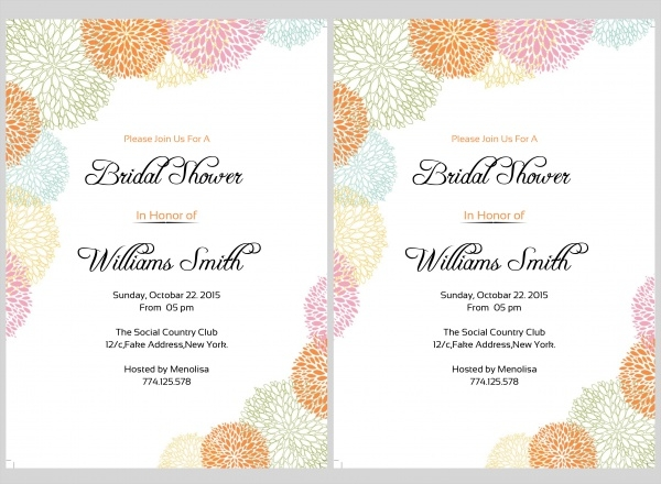 Photoshop Bridal Shower Invitation Template