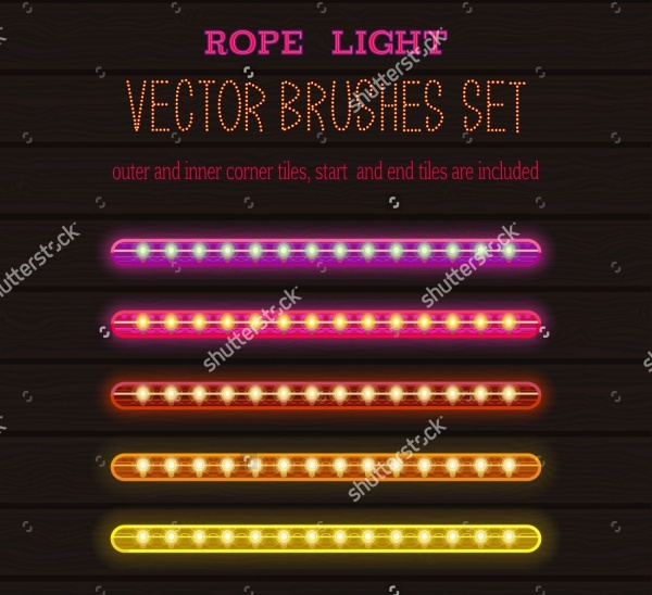 Photoshop Glow Rope Light Brushes