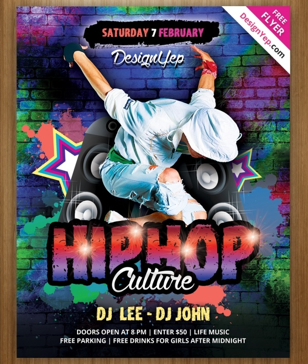 Photoshop Hip Hop Flyer Template