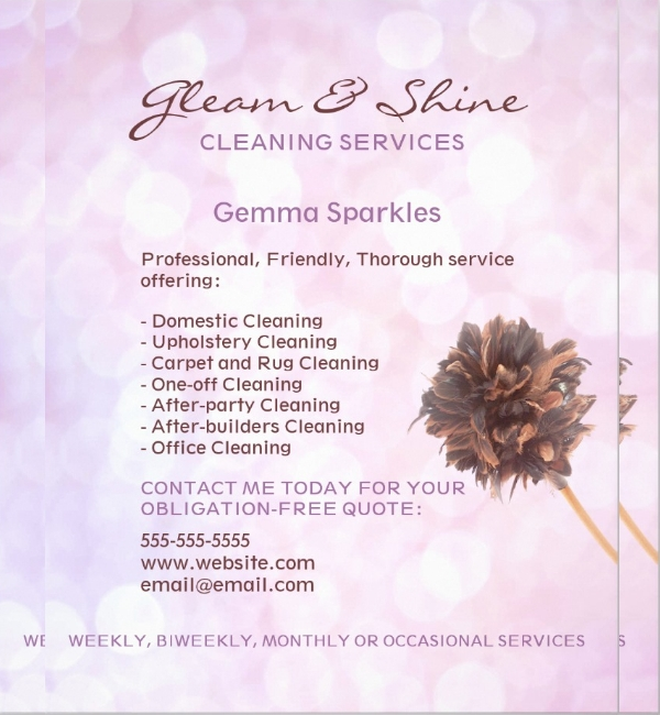 Pink Cleaning Services Flyer