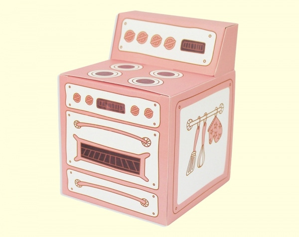Pink Oven Cupcake Box Packaging