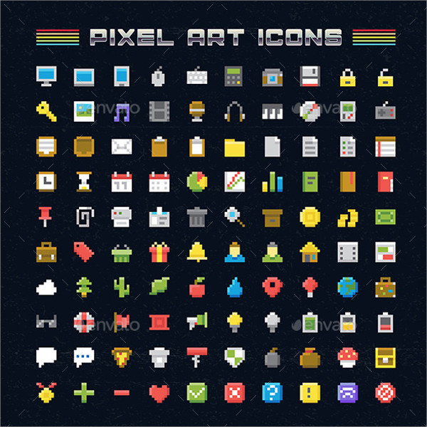 Pixel Art Icons Pack