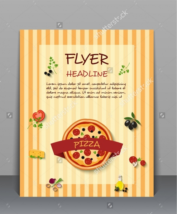 Pizza Flyer Layout Design