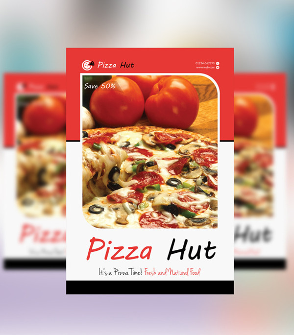 Pizza Hut Restaurant Menu Flyer