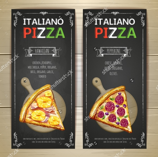 Pizza Menu Restaurant Banner Design