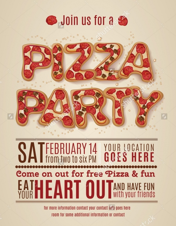 Pizza Party Invitaion Flyer