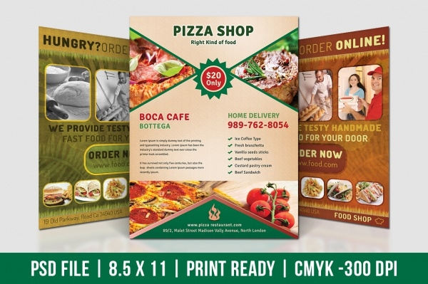 Pizza Shop Elegant Flyer Template