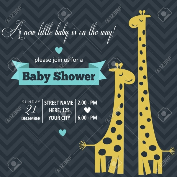 Playful Funny Baby Shower Invitation