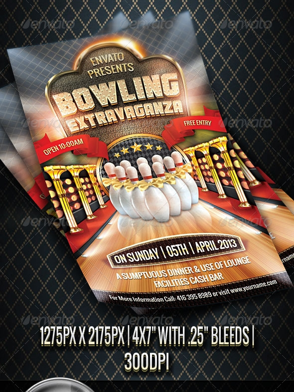 Premium Bowling Flyer Design