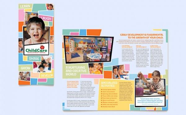 Preschool Kids & Day Care Brochure