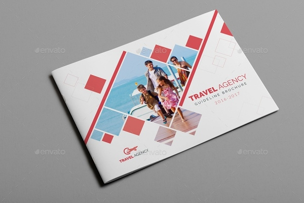 Realistic Travel Agency Brochure Template